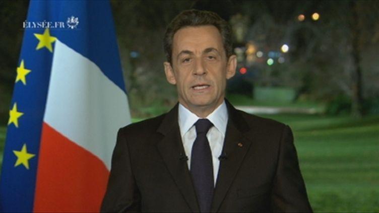 Nicolas Sarkozy, le 31 décembre 2011 (France 2)
