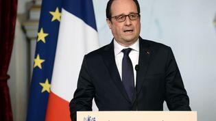 Le président de la République, François Hollande, le 29 avril 2015. (STEPHANE DE SAKUTIN / AFP)