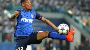 L'attaquant de Monaco Anthony Martial lors du quart de finale aller de la Ligue des champions sur le terrain de la Juventus Turin, le 14 avril 2015. (MASSIMO CEBRELLI / DPPI MEDIA / AFP)