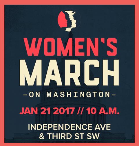 Affiche pour la marche des femmes au lendemain de l'investiture de Donald Trump. (DR)