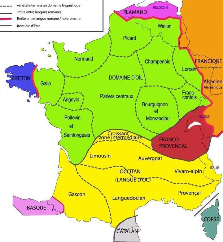 Carte datant de 2013 représentant la répartition des langues régionales en France métropolitaine. (MINISTERE DE LA CULTURE ET DE LA COMMUNICATION)