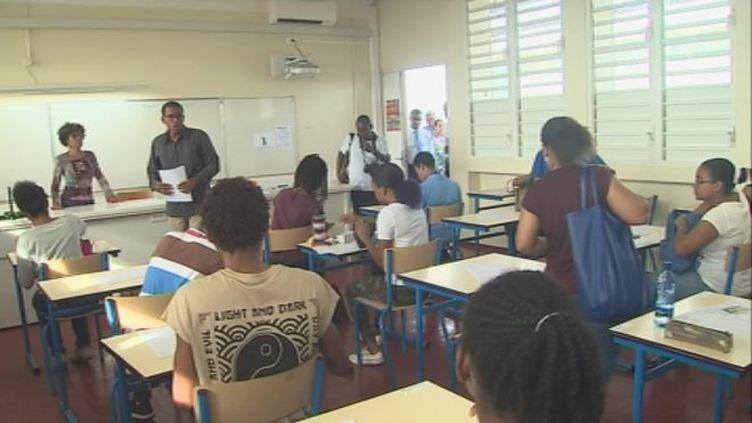 Epreuve de philo au lycée Schoelcher à Fort-de-France en Martinique. (MARTINIQUE 1ERE)
