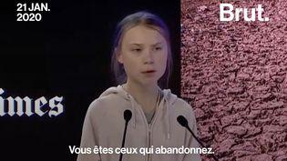"""VIDEO. Davos : """"Votre inaction alimente les flammes à chaque heure"""", a déclaré Greta Thunberg (BRUT)"""