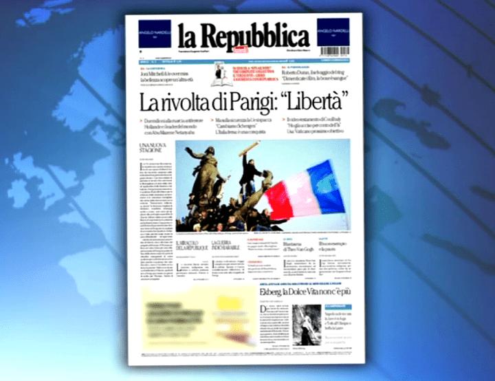 La Reppublica a également choisi la photo de Stéphane Mahé  (France 3 culturebox)