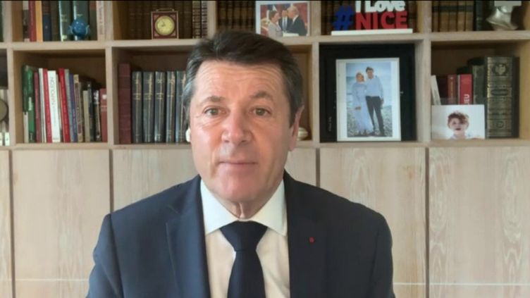 Christian Estrosi, maire Les Républicains de Nice, était l'invité de franceinfo dimanche 21 février 2021. (FRANCEINFO / RADIO FRANCE)