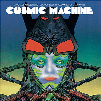 La pochette de Cosmic Machine est signée Philippe Druillet, auteur de BD culte.  (Philippe Druillet)