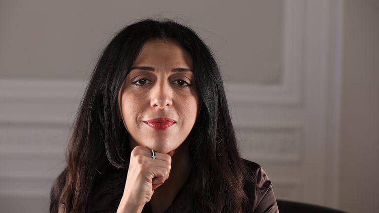 L'écrivaine et ex-salafiste Henda Ayari en octobre 2017 à Paris. (MAXPPP)