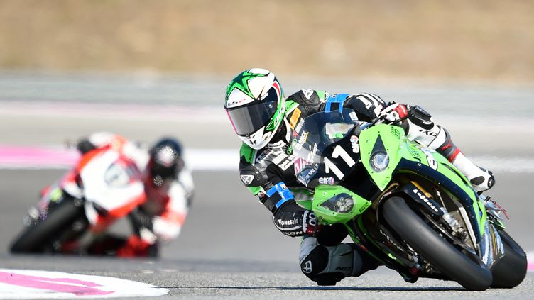 Gregory Leblanc sur la Kawasaki N.11 (BORIS HORVAT / AFP)