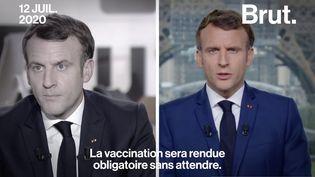 VIDEO. Vaccination obligatoire : comment Emmanuel Macron a changé de discours (BRUT)