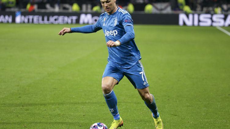 Cristiano Ronaldo lors du match aller face à l'Olympique Lyonnais (JUAN SOLIZ / JUAN SOLIZ)