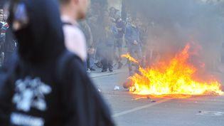 Des manifestants à Nantes, le 1 Novembre 2014. (GEORGES GOBET / AFP)