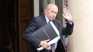 Le ministre de l'Intérieur Gérard Collomb, à la sortie d'un conseil des ministres, le 12 juin 2018, à Paris. (LUDOVIC MARIN / AFP)