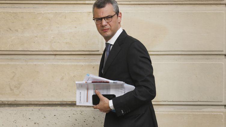Alexis Kohler devant l'Elysée (Paris), le 18 septembre 2018. (LUDOVIC MARIN / AFP)