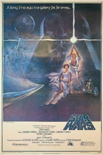 """L'affiche originale de l'épisode IV de """"Star Wars"""", datant de 1977. Estimation :entre 2 500 et 3 200 euros. (HÔTEL DROUOT)"""