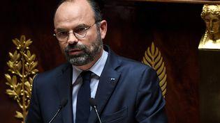 Edouard Philippe lors de son discours de politique générale à l'Assemblée nationale, mercredi 12 juin 2019. (ALAIN JOCARD / AFP)
