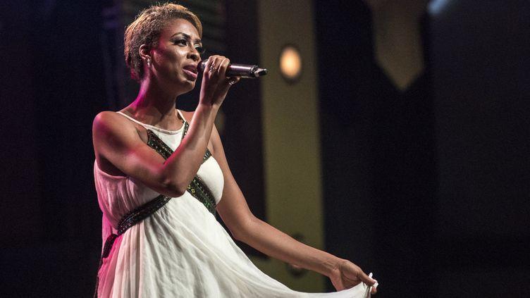 A Accra (Ghana) la chanteuse éthiopienne Betty G, album de l'année aux AFRIMA (All Africa Music Awards, 24 novembre 2018)  (Cristina Aldehuela / AFP)