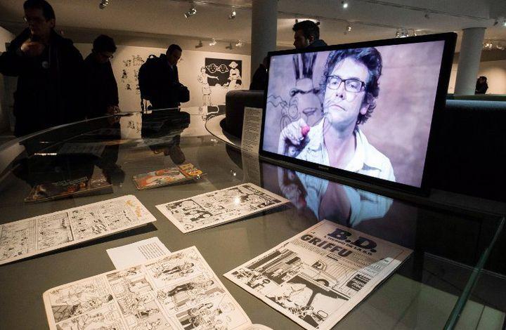Hommage à Tigous au Musée de la Bande dessinée  (PIERRE DUFFOUR / AFP)