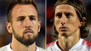 Harry Kane et Luka Modric disputeront leur premier match de la compétition à Wembley, le 13 juin. (ROBERT ATANASOVSKI / AFP)