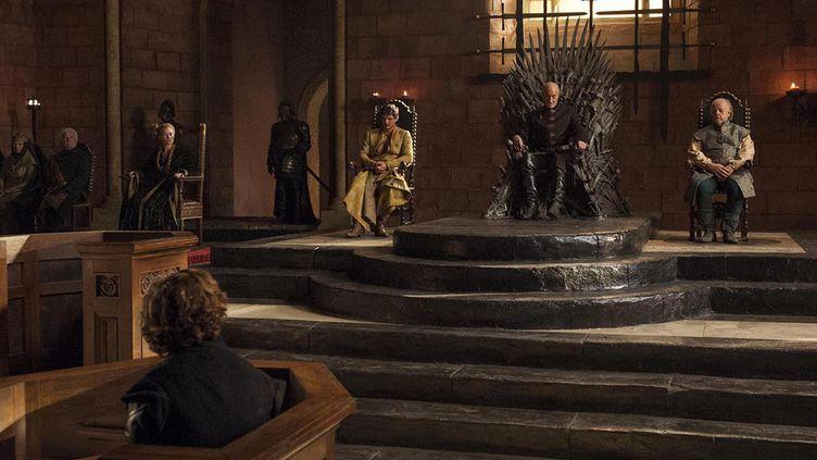 """La salle du trône a été reconstituée pour l""""exposition """"Game of Thrones""""  (HBO)"""