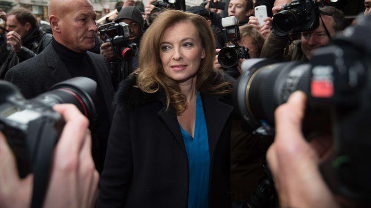 Valérie Trierweiler, l'ex-compagne de François Hollande, le 25 novembre 2014, à Londres (Royaume-Uni). (TIM IRELAND / AP / SIPA)