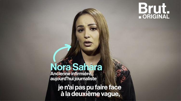 """VIDEO. """"Je n'ai pas pu faire face à la deuxième vague"""", confie Nora Sahara, ancienne infirmière (BRUT)"""