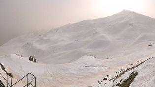 La station de ski de Piau-Engaly, dans les Hautes-Pyrénées, le 23 février à 14 heures. (Webcam Piau-Engaly)
