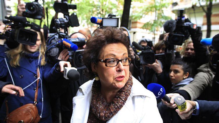 Christine Boutin, présidente du Parti chrétien-démocrate, le 23 avril 2012 à Paris. (YVES HERMAN / REUTERS)
