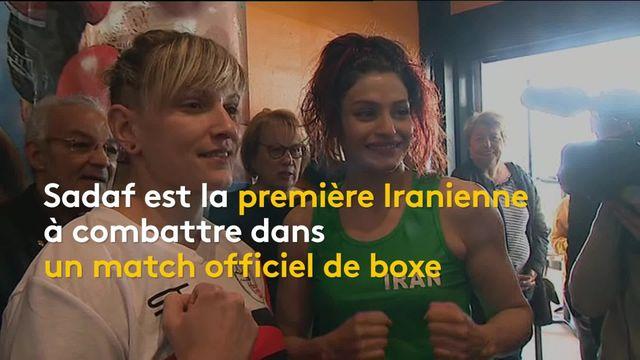 Sports : première victoire officielle pour une boxeuse iranienne