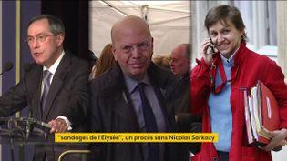 Claude Guéant, Patrick Buisson et Emmanuelle Mignon (FRANCEINFO)