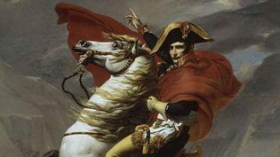 Bonaparte franchissant le Grand-Saint-Bernard, l'une des cinq versions signées David (détail)  (Coll-Peter Willi/SUPERSTOCK/SIPA)