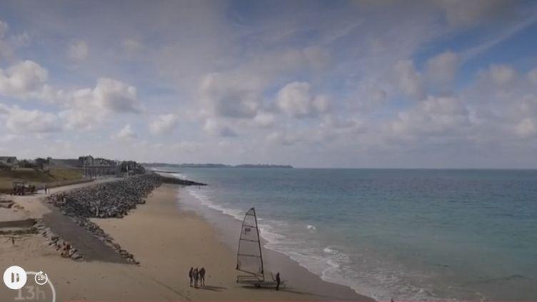 Dans la Manche, le week-end du 31 août et du 1er septembre, les grandes marées pourront être contemplées sur le littoral. (CAPTURE ECRAN FRANCE 2)