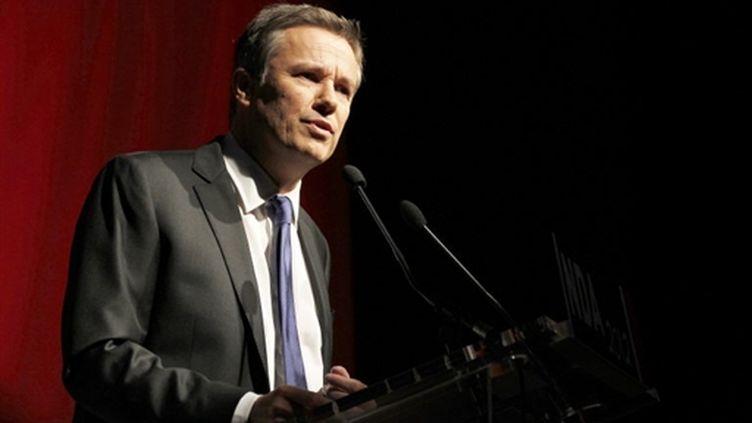 Nicolas Dupont-Aignan au 2e congrès de Debout la république (AFP/FRANCOIS GUILLOT)