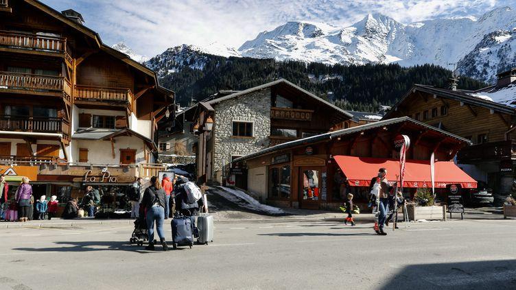 La station de ski des Contamines-Montjoie (Haute-Savoie), le 8 février 2020. (MAXPPP)