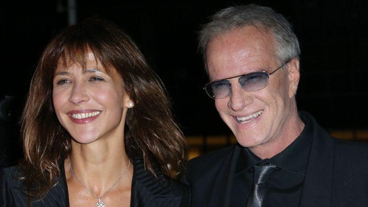 """Sophie Marceau et Christophe Lambert le 21 sept 2012 à l'inauguration de """"La Cité du cinéma"""" de Luc Besson.  (Thomas Samson / AFP)"""