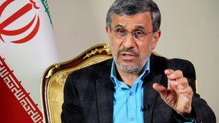 L'ancien président iranien, Mahmoud Ahmadinejad, le 14 mai 2021 à Téhéran. (MARINA VILLEN / MAXPPP)