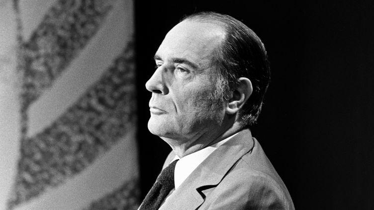 François Mitterrand, premier secrétaire du PS, en 1974  (Masquelier / Ina)