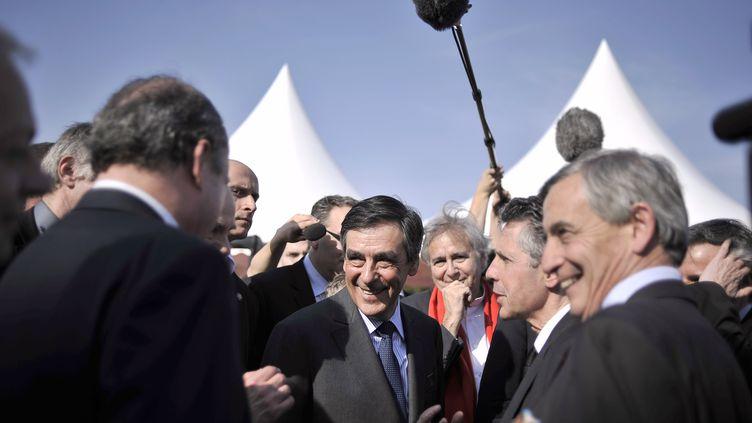 Le Premier ministre, le 22 mars 2012 à Alise-Sainte-Reine (Côte-d'Or). (JEFF PACHOUD / AFP)