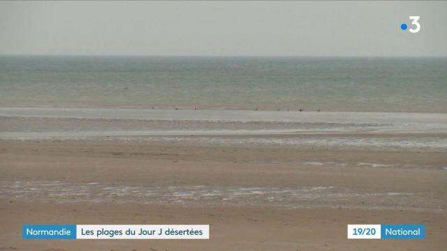 Normandie : les plages du débarquement quasiment désertées