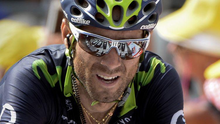 Le coureur espagnol de la Movistar Alejandro Valverde (YUZURU SUNADA / BELGA MAG)