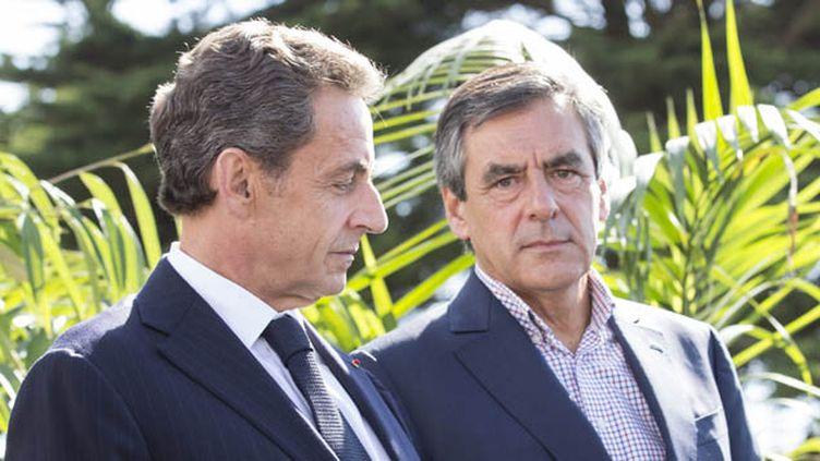 (Nicolas Sarkozy et François Fillon © MaxPPP)