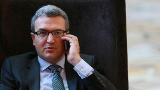 Le député européen Aymeric Chauprade, le 16 septembre 2015, à Moscou (Russie). (ANTON DENISOV / RIA NOVOSTI / AFP)