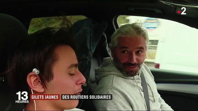 """""""Gilets jaunes"""" : près de Toulouse, les routiers mènent une opération escargot"""