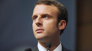 Emmanuel Macron au Forum économique international Amérique latine et les Caraïbes au ministère de l'Economie à Paris le 5 Juin 2015. (ERIC PIERMONT / AFP)