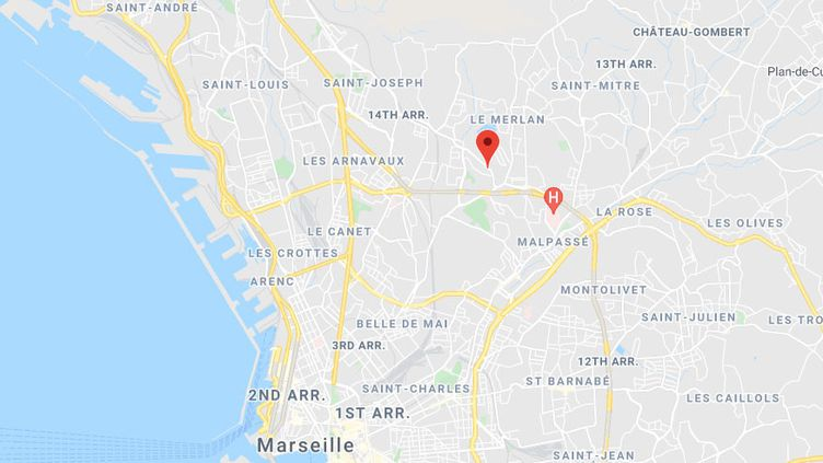 Le quartier des Flamants, dans le 14e arrondissement de Marseille (Bouches-du-Rhône). (GOOGLE MAPS)