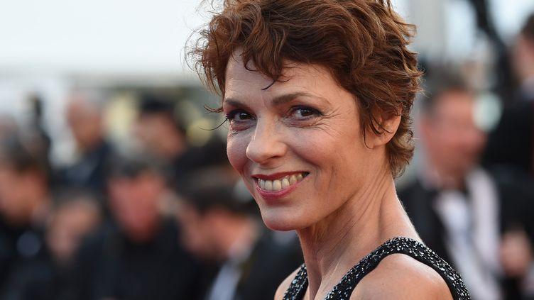 Elizabeth Bourgine, au Festival de Cannes, 2015  (ANNE-CHRISTINE POUJOULAT / AFP)