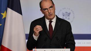 Le Premier ministre, Jean Castex, lors d'une conférence de presse à Paris le 16 juin 2021. (THOMAS COEX / AFP)