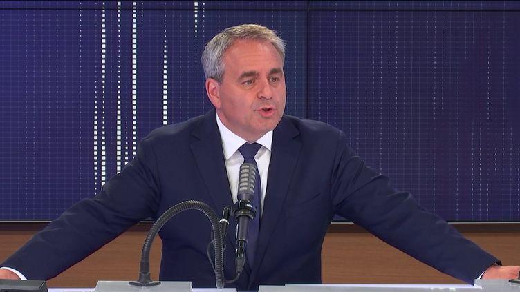 Xavier Bertrand, président sortant de la Région Hauts-de-France, invité de franceinfo le 17 juin 2021.  (FRANCEINFO / RADIO FRANCE)