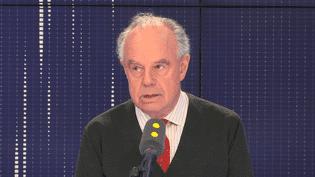 Frédéric Mitterrand sur franceinfo, lelundi 8 octobre2018. (FRANCEINFO / RADIOFRANCE)