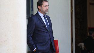 Le secrétaire d'Etat aux Relations avec le Parlement, Christophe Castaner,le 18 juin 2018 au palais de l'Elysée. (LUDOVIC MARIN / AFP)
