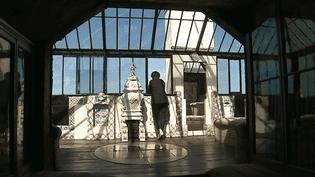 """Atelier de sa maison """"Hauteville House"""" à Guernesey  (France 3 / Culturebox / capture d'écran)"""